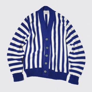 vintage stripe lettered cardigan