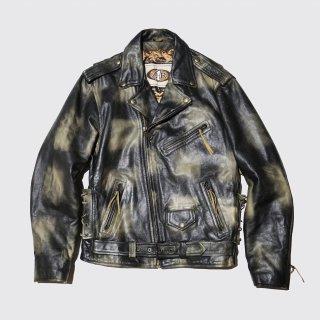 vintage faded riders jacket