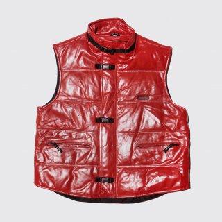 vintage m julian belted leather down vest
