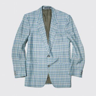 vintage yves saint lauren check tailored jacket