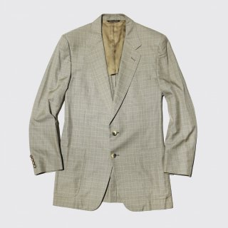 vintage celine check tailored jacket
