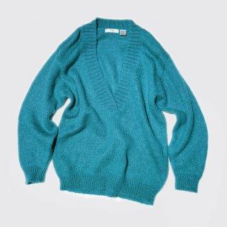 vintage deep v mohair sweater