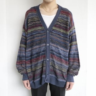 old mix woven loose cardigan
