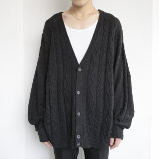 old cable loose cardigan