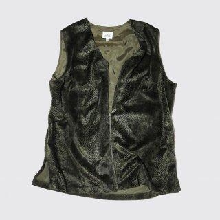 vintage python velour vest