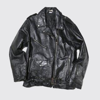 vintage patchwork leather riders jacket