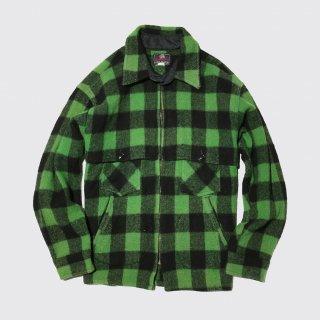 vintage jhonson block check zipped cpo jacket