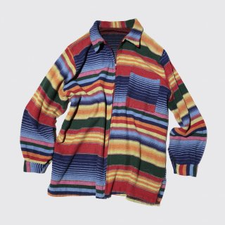 vintage native stripe zipped jacket