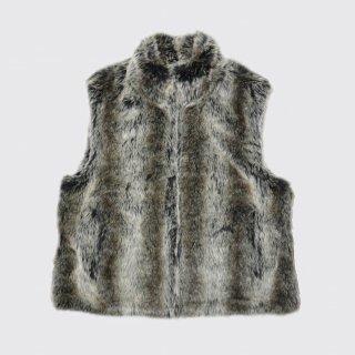 vintage reversible fur vest