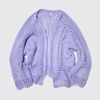 vintage hand crochet over cardigan