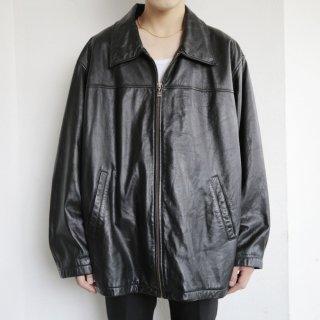 old m julian zipped leather jacket