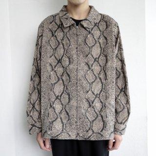 old python zipped shirt jacket