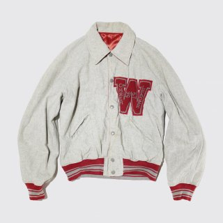 vintage satin/wool reversible varsity jacket