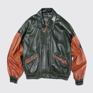 vintage pelle pelle leather varsity jacket