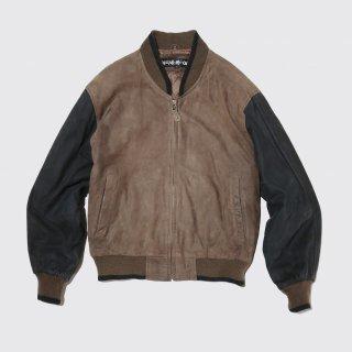 vintage leather varsity jacket
