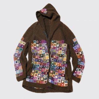 vintage hand knit hoodie