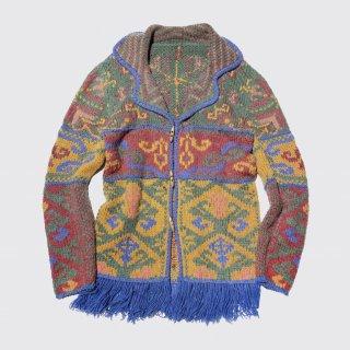 vintage native hand knit jacket
