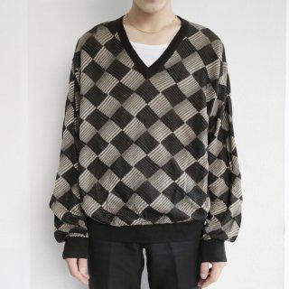 old harrikin check sweater