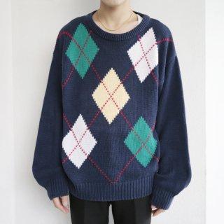 old cotton argyle sweater
