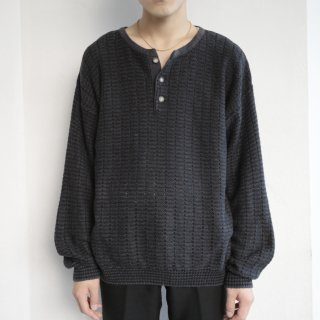 old cotton henry neck sweater