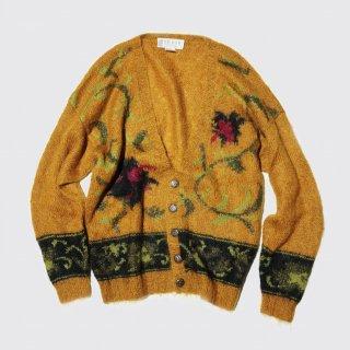vintage botanical mohair cardigan