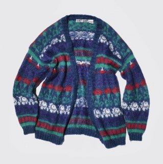 vintage pattern mohair cardigan