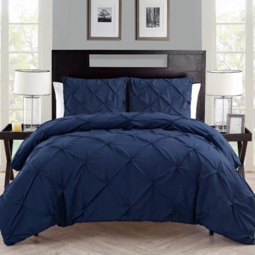 VCNY /ベットリネン4点セット*Carmen Pintuck 4piece Comforter Set / Navy
