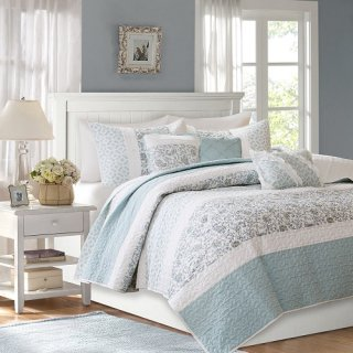 MADISON PARK(マディソンパーク) /ベットリネン6点セット* Dawn 6 Piece Quilted Coverlet Set