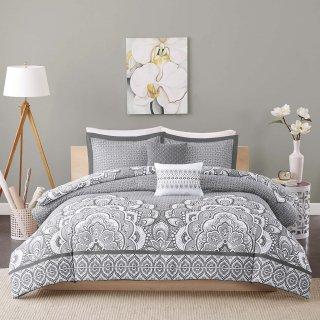 海外ホテルテイスト♪イザベラ掛け布団4〜5点セット*Isabella Comforter Set / Gray & Blue