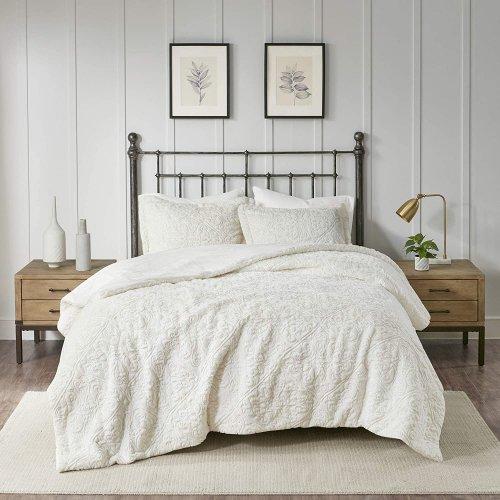 最終SALE価格!MADISON PARK(マディソンパーク) ベットリネン2〜3点セット*Bismarck Ultra Plush Comforter Set/Ivory