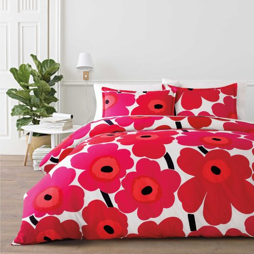 <img class='new_mark_img1' src='//img.shop-pro.jp/img/new/icons14.gif' style='border:none;display:inline;margin:0px;padding:0px;width:auto;' />marimekko (マリメッコ)掛け布団カバー&枕カバーセット *Unikko Duvet Cover Set / Red