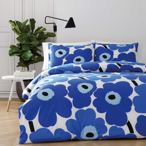 marimekko (マリメッコ)掛け布団&枕カバーセット*Unikko Comforter Set / Blue