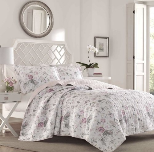 <img class='new_mark_img1' src='https://img.shop-pro.jp/img/new/icons14.gif' style='border:none;display:inline;margin:0px;padding:0px;width:auto;' />限定SALE!Laura Ashley(ローラアシュレイ) フェミニンキルトベットカバー2〜3点セット*Breezy Floral Quilt Set
