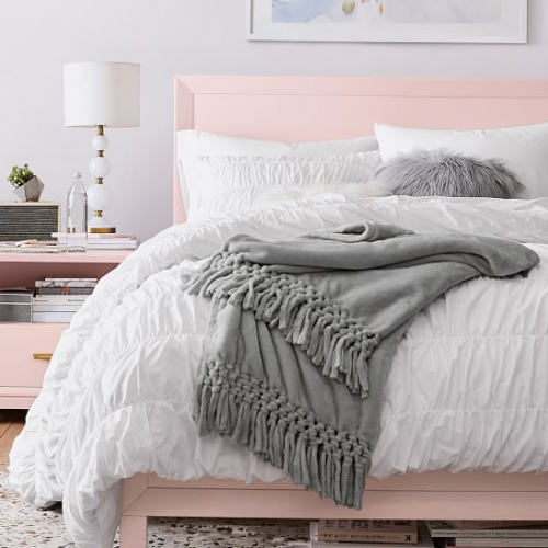 <img class='new_mark_img1' src='https://img.shop-pro.jp/img/new/icons14.gif' style='border:none;display:inline;margin:0px;padding:0px;width:auto;' />Pottery Barn (ポッタリーバーン)オーガニック掛け布団カバー ✻ Ruched Organic Duvet Cover / White