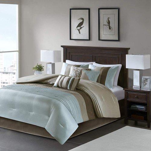 MADISON PARK(マディソンパーク) ベットリネン7点セット*Amherst 7-piece Comforter Set / Blue