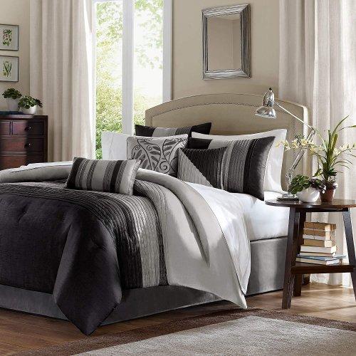 MADISON PARK(マディソンパーク) ベットリネン7点セット*Amherst 7-piece Comforter Set /  Black