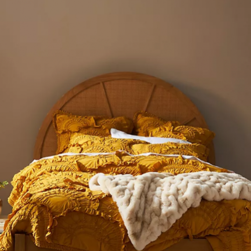 <img class='new_mark_img1' src='https://img.shop-pro.jp/img/new/icons14.gif' style='border:none;display:inline;margin:0px;padding:0px;width:auto;' />ANTHROPOLOGIE(アンソロポロジー) キルトカバー*Rivulets Quilt /Ochre