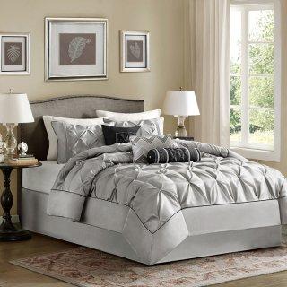 MADISON PARK(マディソンパーク)   ベットリネン7点セット*Laurel 7-piece Comforter Set/Grey