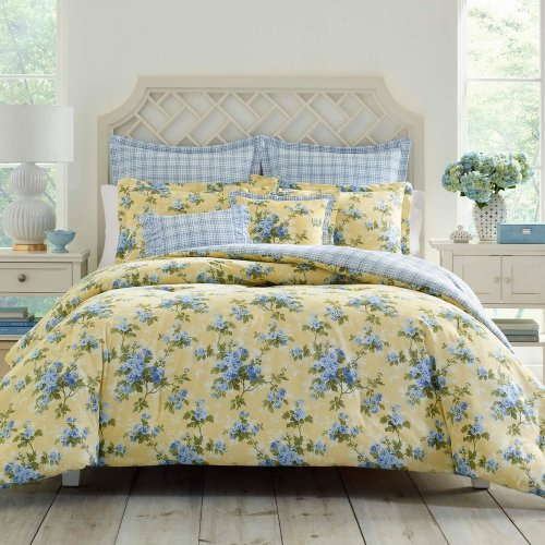 <img class='new_mark_img1' src='https://img.shop-pro.jp/img/new/icons14.gif' style='border:none;display:inline;margin:0px;padding:0px;width:auto;' />Laura Ashley(ローラアシュレイ) フローラル掛け布団5〜7点セット*Cassidy Floral Cotton Comforter Set