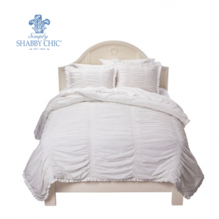 simply shabby chic(シャビーシック) /ベットリネン2〜3点セット*Ruched Comforter Set - True White