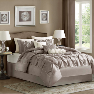 MADISON PARK(マディソンパーク)   ベットリネン7点セット*Laurel 7-piece Comforter Set/Taupe
