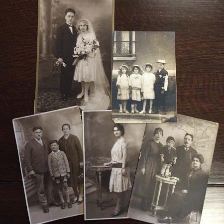 モノクロ 家族写真5枚セット