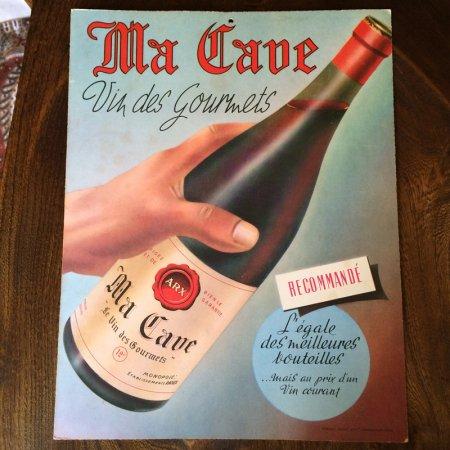 ヴィンテージ広告 厚紙ポスター ワイン関係(Ma Cave)