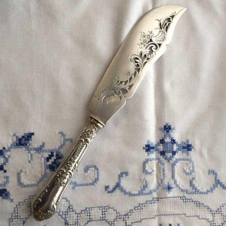 植物模様の美しい透彫り 取り分け用ナイフ