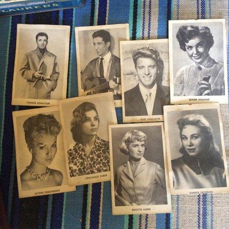 60年代スターの写真カード(8枚セット)