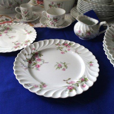 ピンクの薔薇のリモージュ HAVILAND  プレート 大皿(在庫1)