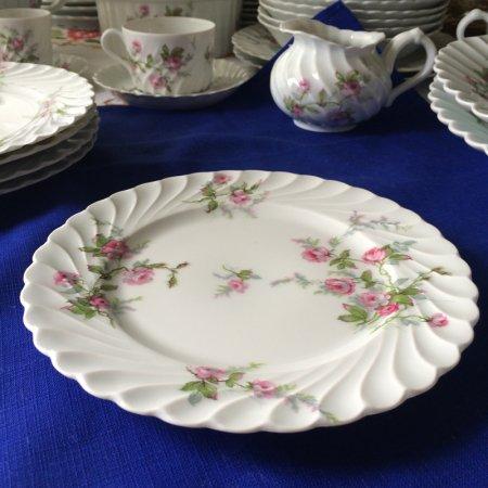 リモージュ HAVILAND ピンクの薔薇  パン皿プレート Limoges