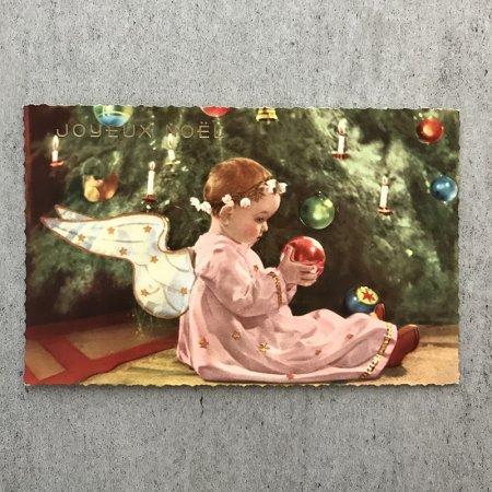 クリスマス ポストカード(ツリーと子供)