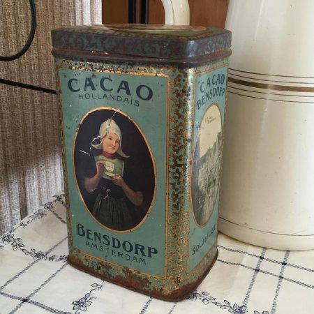 TIN缶 Bensdorp アンティークココア缶