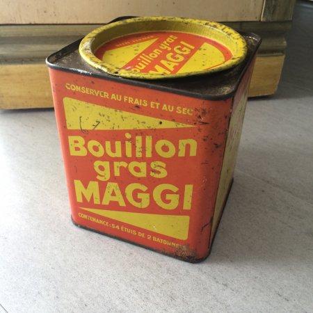 TIN缶 MAGGI アンティーク大きめの缶